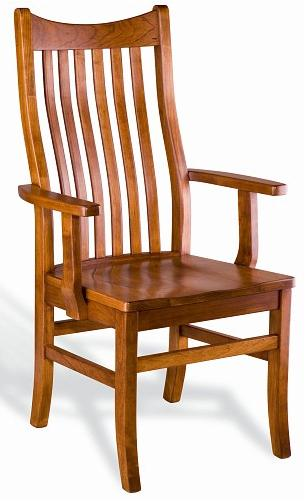 Greenbrier Dining  Quincy Solid Wood Dining Arm Chair - Item Number: 30185