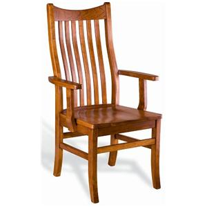 Greenbrier Dining  Quincy Solid Wood Dining Arm Chair