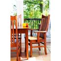 Gat Creek Dining Portsmouth Boat Shaped Dining Leg Table - Shown with Quincy Arm Chairs and Side Chairs