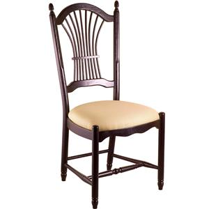 Gat Creek Dining Sheaf Back Side Chair with Upholstered Seat