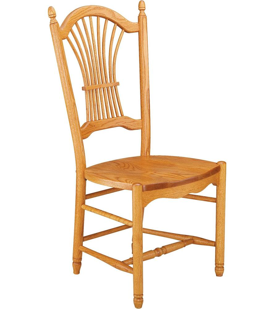 Greenbrier Dining Sheaf Back Side Chair with Wooden Seat - Item Number: 71207