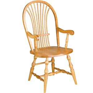 Greenbrier Dining Windsor Wheat Arm Chair