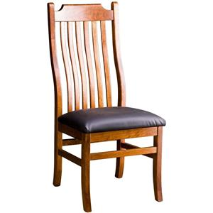 Greenbrier Dining Madison Side Chair with Leather Seat