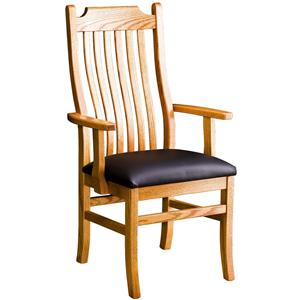 Greenbrier Dining Madison Arm Chair wiht Leather Seat