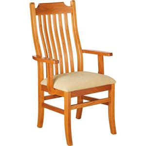 Greenbrier Dining Madison Arm Chair with Upholstered Chair