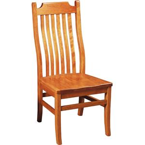 Greenbrier Dining Madison Side Chair with Wood Seat