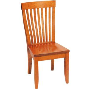 Greenbrier Dining Monterey Side Chair with Wooden Seat