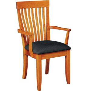 Monterey Arm Chair with Upholstered Seat
