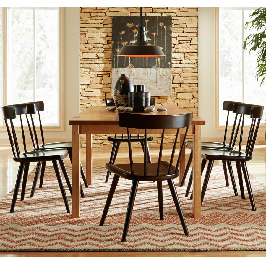 Greenbrier Dining Solid Wood Dining Set - Item Number: 81670+6x81128