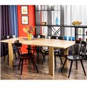 Greenbrier Dining Boardwalk Dining Table with Block Feet