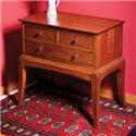 Greenbrier Sabin 3 Drawer Night Stand with Tall, Flared Legs