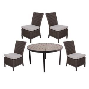 Gatherings Brookstone Outdoor Dining Set with Round Table
