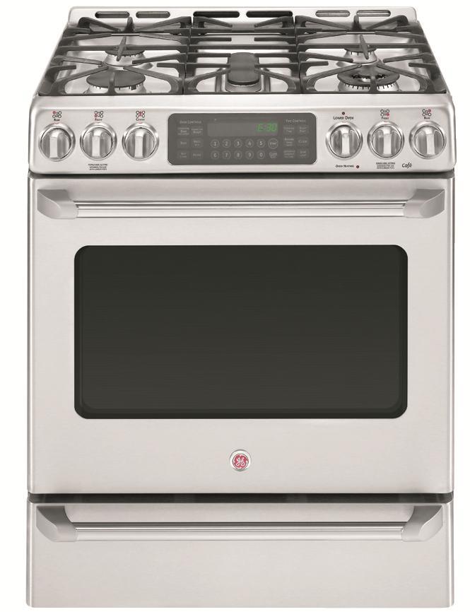 "GE Appliances Dual-Fuel Ranges 30"" Freestanding Dual Fuel Range - Item Number: C2S985SETSS"