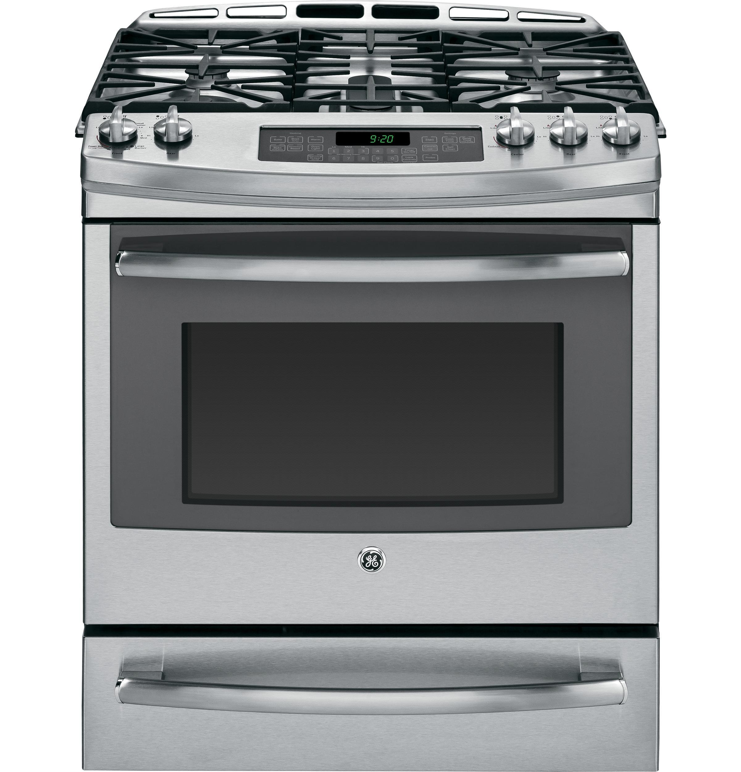 "GE Appliances Dual-Fuel Ranges 30"" Dual Fuel Slide-In Range - Item Number: P2S920SEFSS"