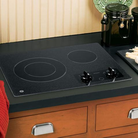"""GE Appliances Electric Cooktops 21"""" Built-In Electric Cooktop - Item Number: JP256BMBB"""