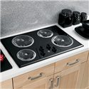 "GE Appliances Electric Cooktops 30"" Built-In Electric Cooktop - Item Number: JP328BKBB"