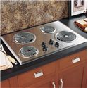 "GE Appliances Electric Cooktops 30"" Built-In Electric Cooktop - Item Number: JP328SKSS"