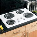 "GE Appliances Electric Cooktops 30"" Built-In Electric Cooktop - Item Number: JP328WKWW"