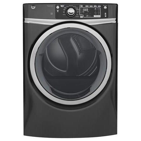 GE Appliances Electric Dryers - GE 8.3 Cu.Ft. Front Load Electric Steam Dryer - Item Number: GFD48ESPKDG