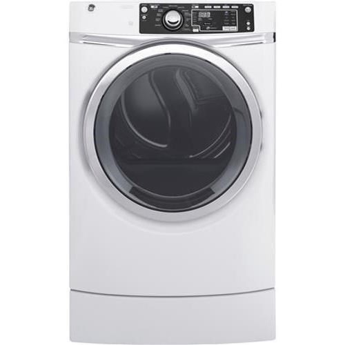 GE Appliances Electric Dryers - GE 8.3 Cu.Ft. Front Load Electric Steam Dryer - Item Number: GFD48ESSKWW