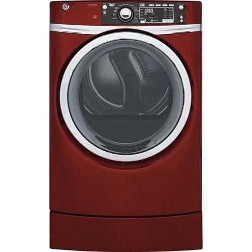 GE Appliances Electric Dryers - GE 8.3 Cu.Ft. Electric Steam Dryer - Item Number: GFD49ERPKRR