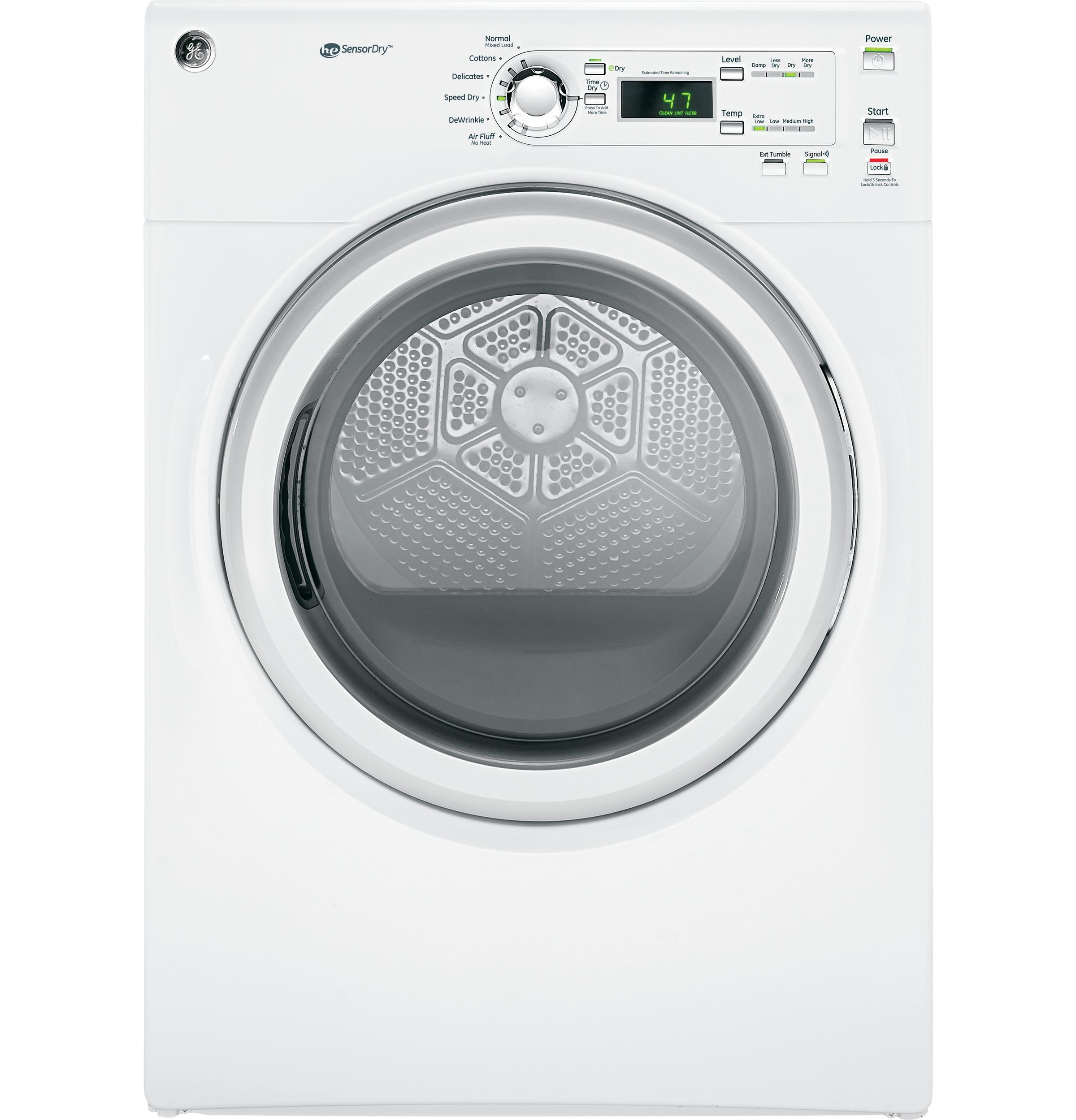 GE Appliances Electric Dryers - GE 7.0 Cu. Ft. apacity Dura Drum electric  - Item Number: GFDN110EDWW