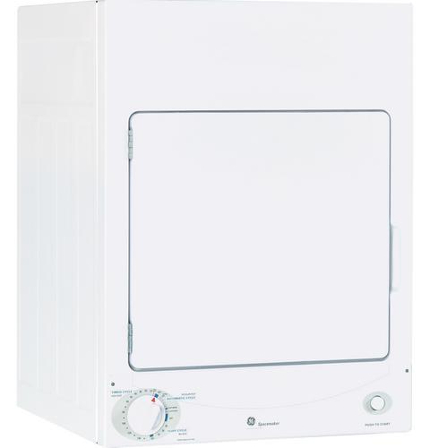 GE Appliances Electric Dryers  3.6 Cu. Ft. Stationary Electric Dryer - Item Number: DSKS333ECWW