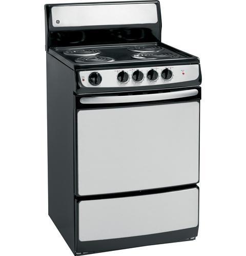 "GE Appliances Electric Range 24"" Freestanding Electric Range - Item Number: JAS02SNSS"