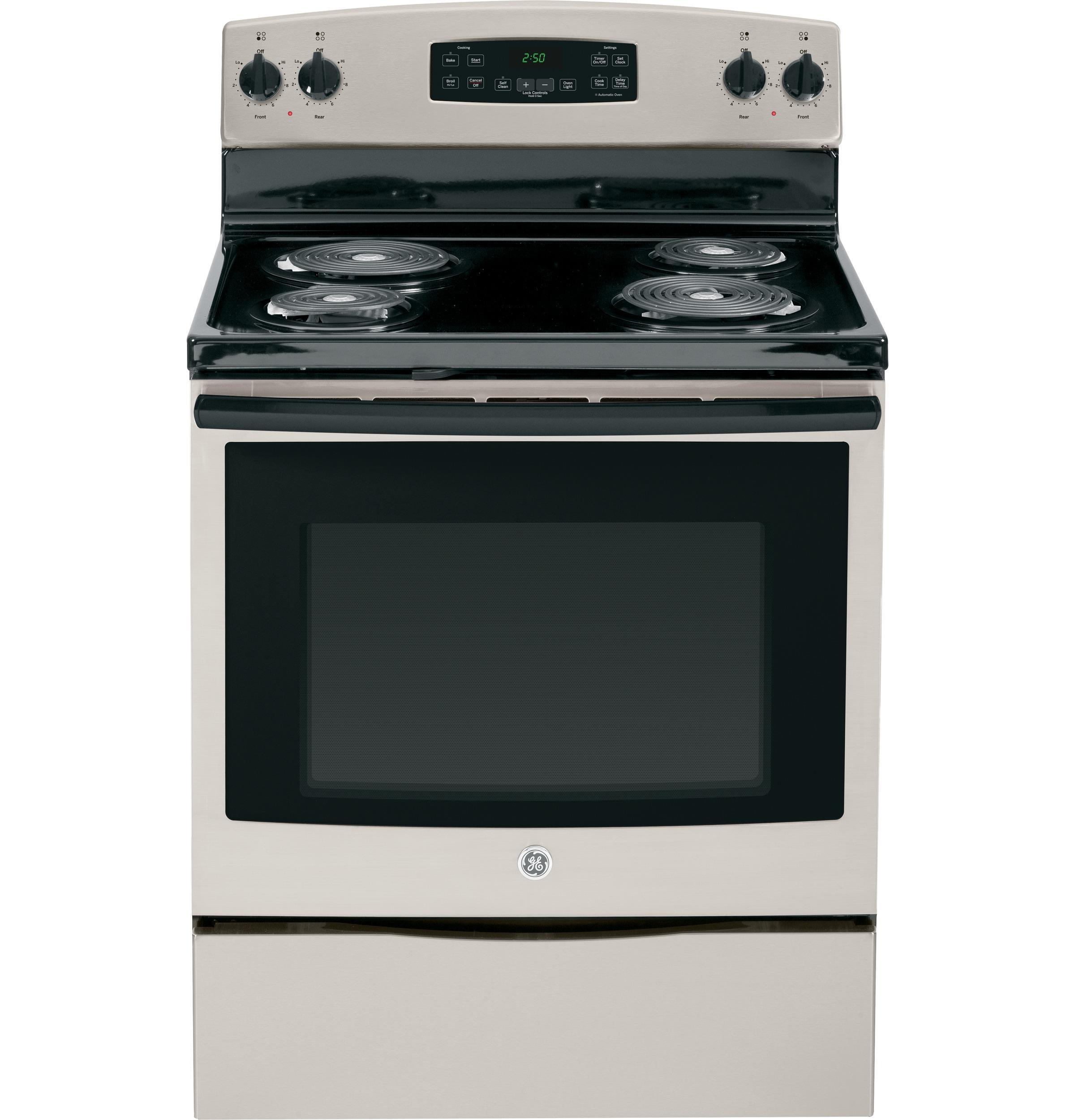"GE Appliances Electric Range 30"" Free-Standing Electric Range - Item Number: JB250GFSA"