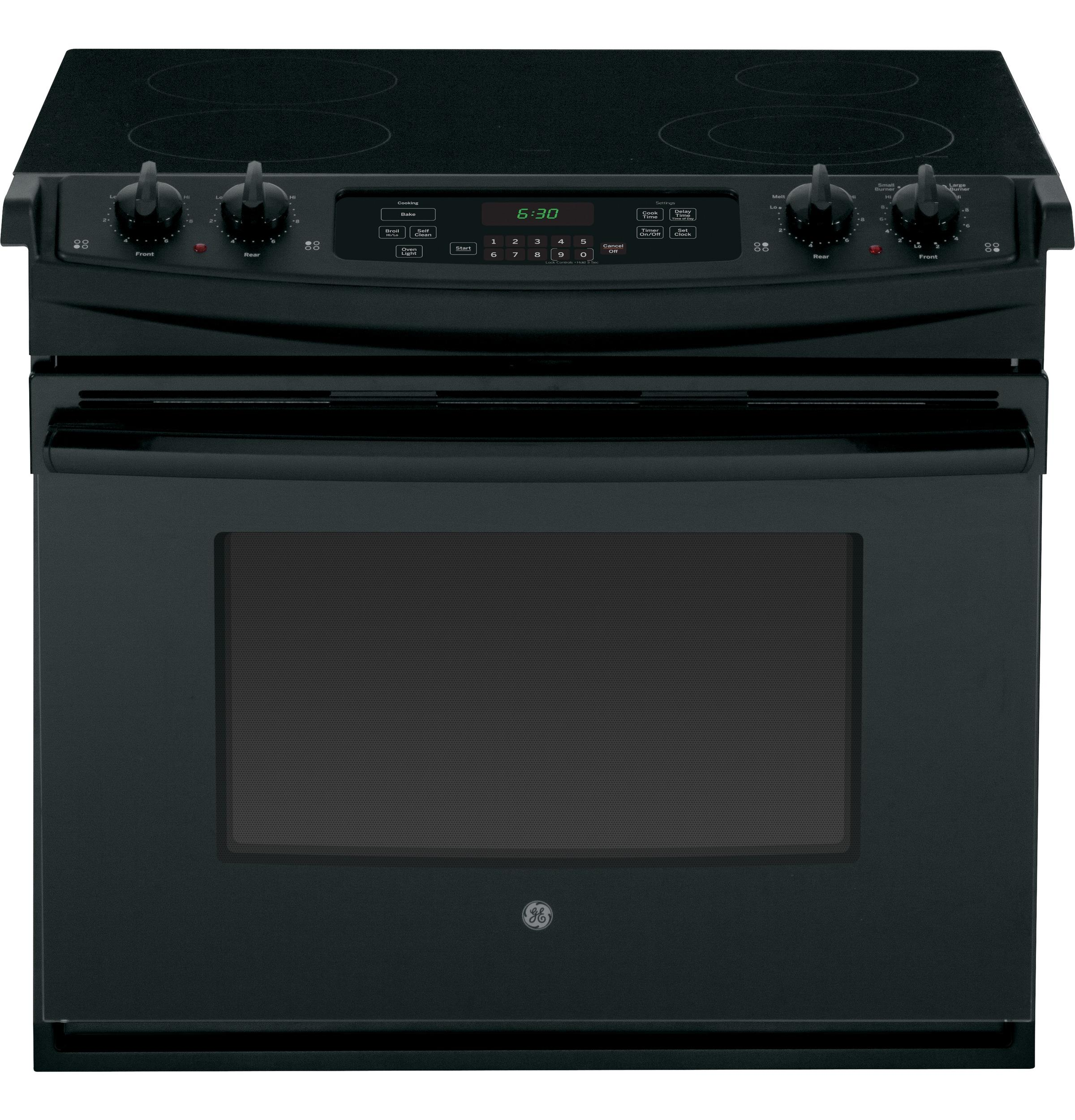 "GE Appliances Electric Range 30"" Drop-In Electric Range - Item Number: JD630DFBB"