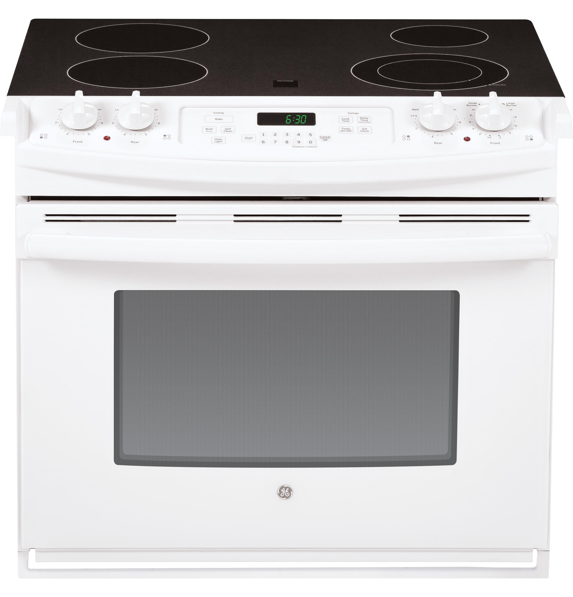 "GE Appliances Electric Range  30"" Drop-In Electric Range - Item Number: JD630DFWW"