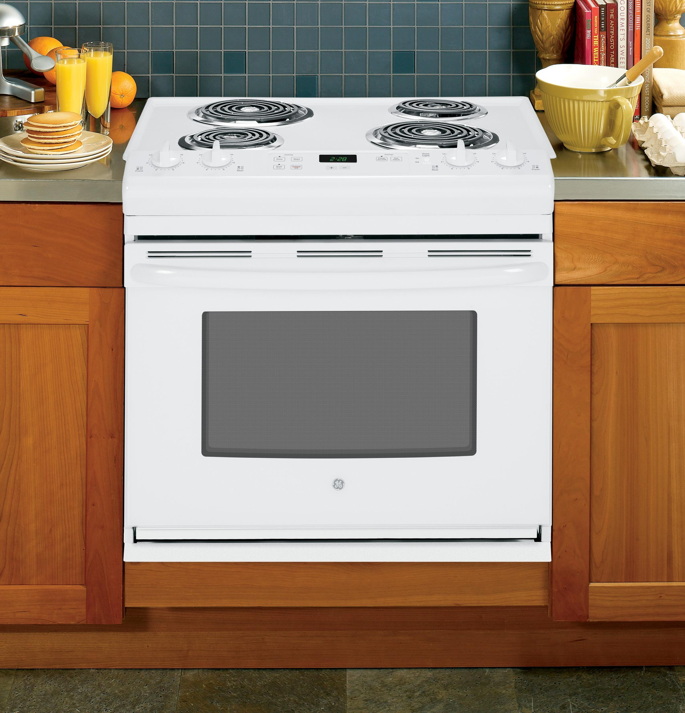"GE Appliances Electric Range  30"" Drop-In Electric Range - Item Number: JDS28DFWW"