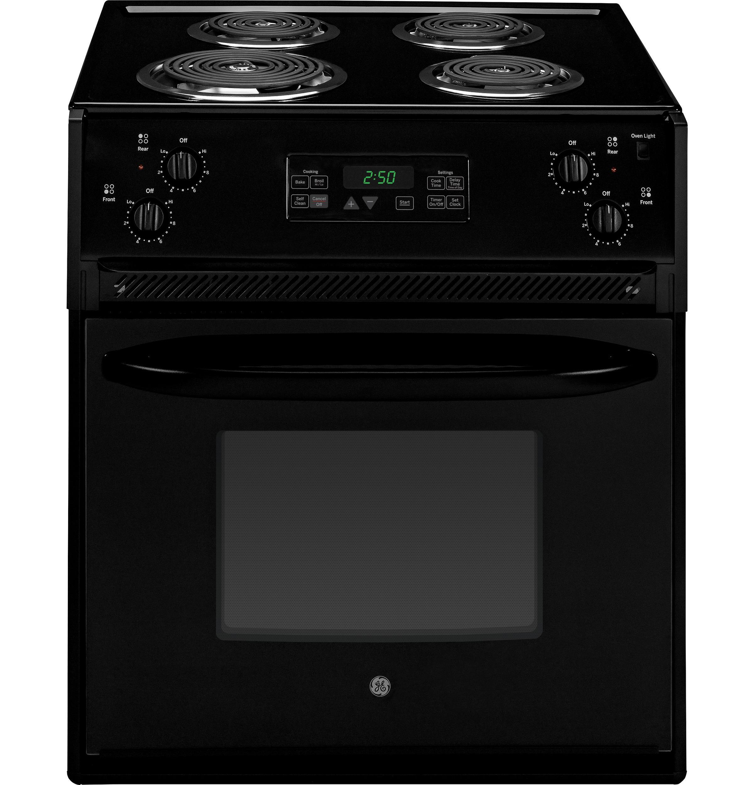 "GE Appliances Electric Range 27"" Drop-In Electric Range - Item Number: JM250DFBB"