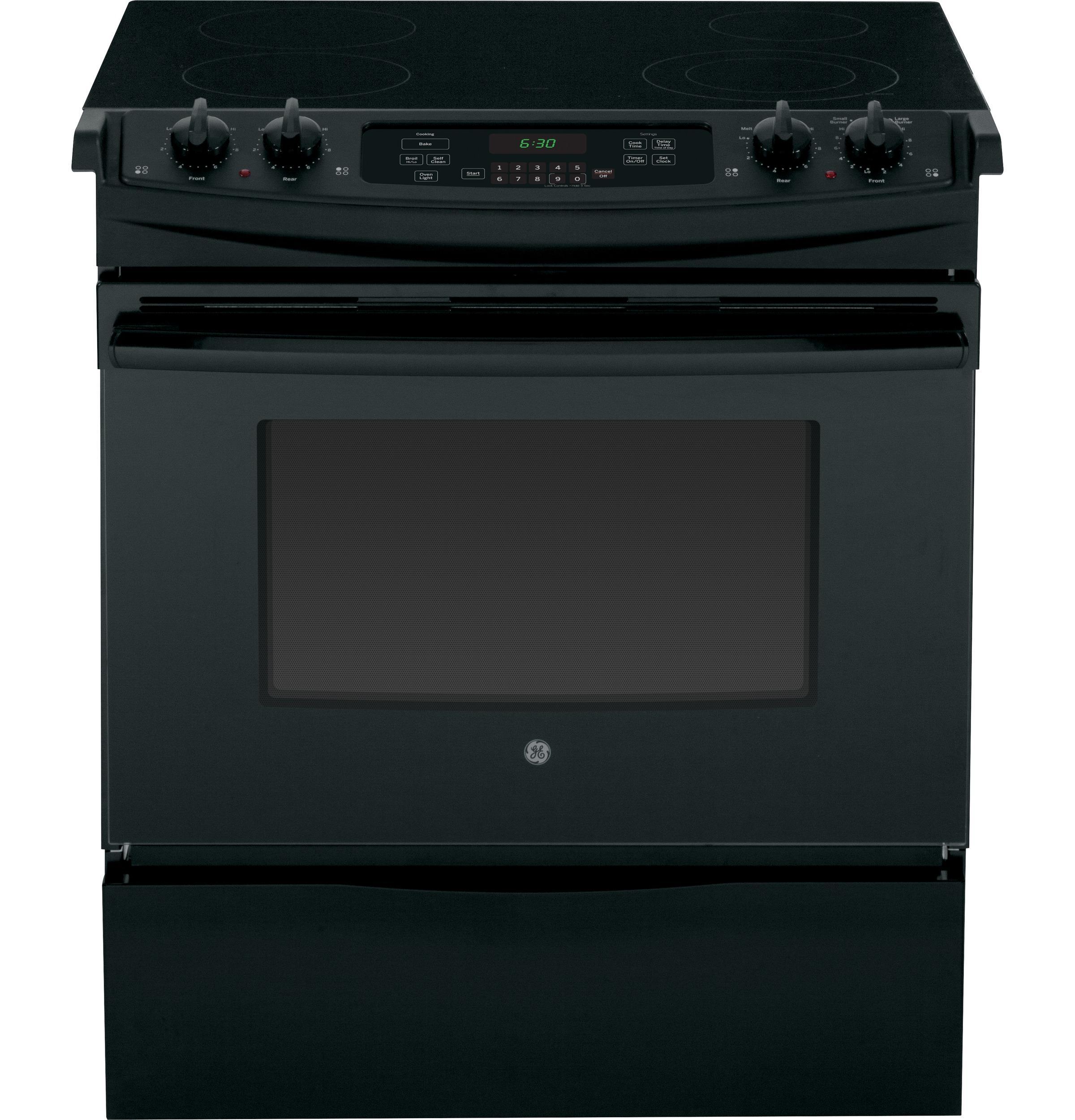 """GE Appliances Electric Range 30"""" Slide-In Electric Range - Item Number: JS630DFBB"""
