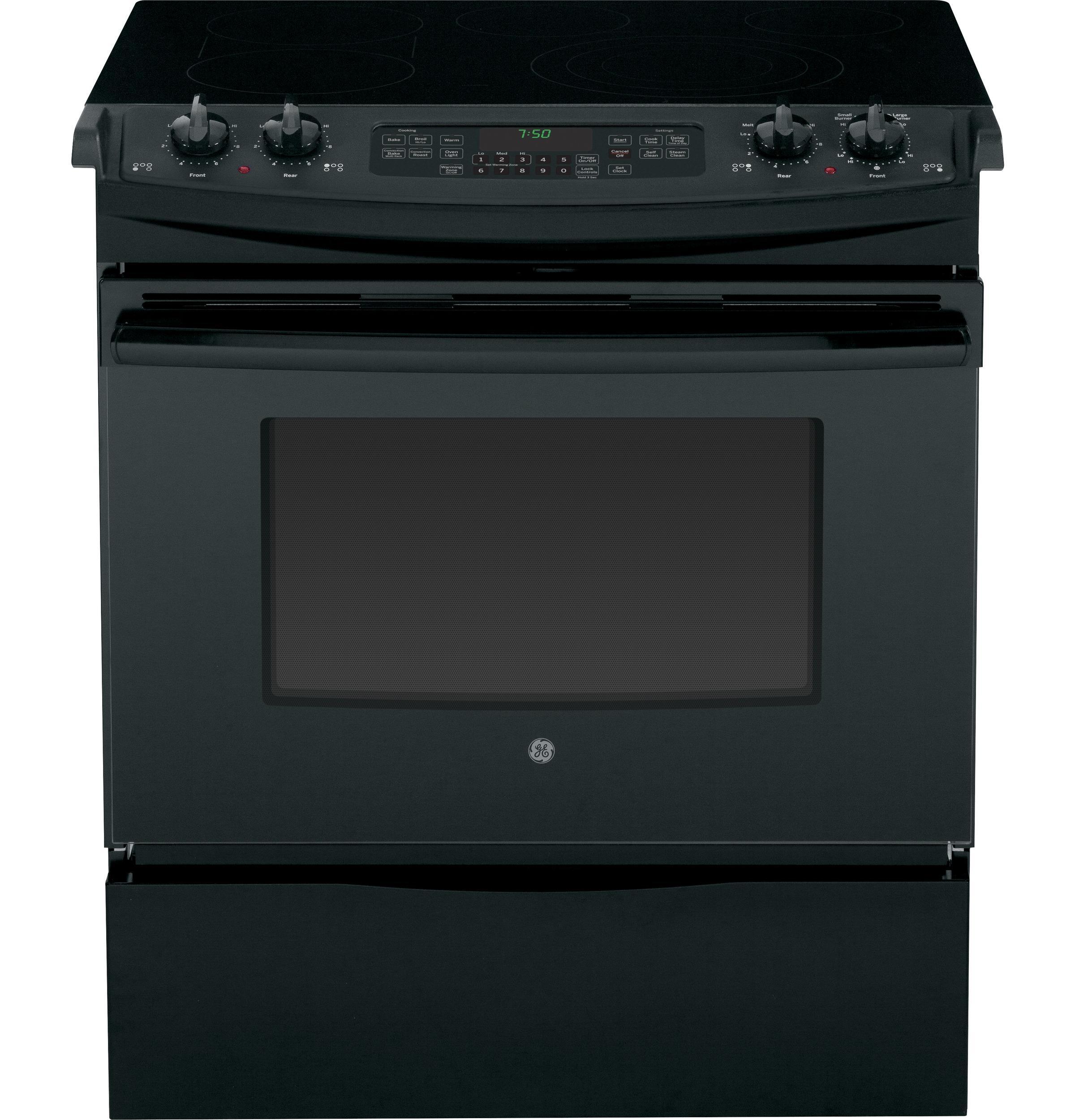 """GE Appliances Electric Range 30"""" Slide-In Electric Range - Item Number: JS750DFBB"""