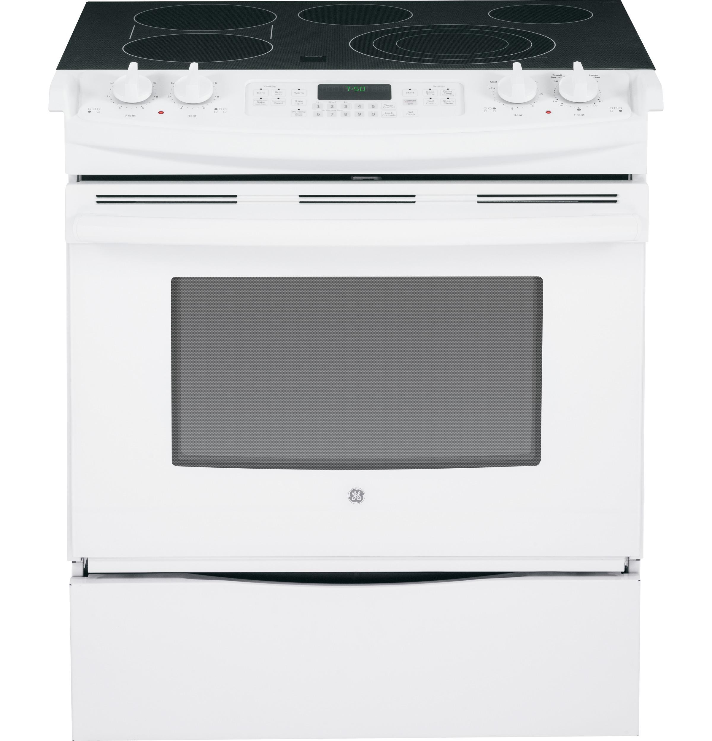 """GE Appliances Electric Range  30"""" Slide-In Electric Range - Item Number: JS750DFWW"""