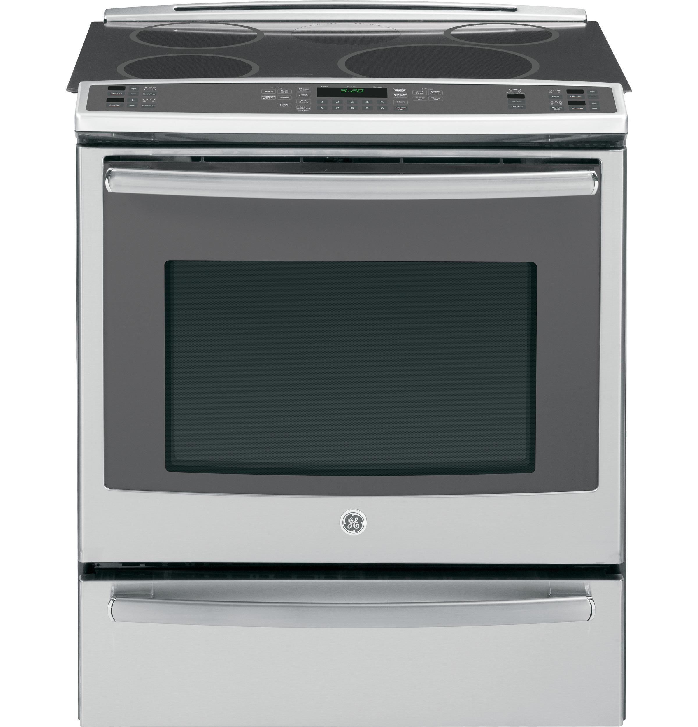 "GE Appliances Electric Range 30"" Slide-In Induction and Convection Range - Item Number: PHS920SFSS"