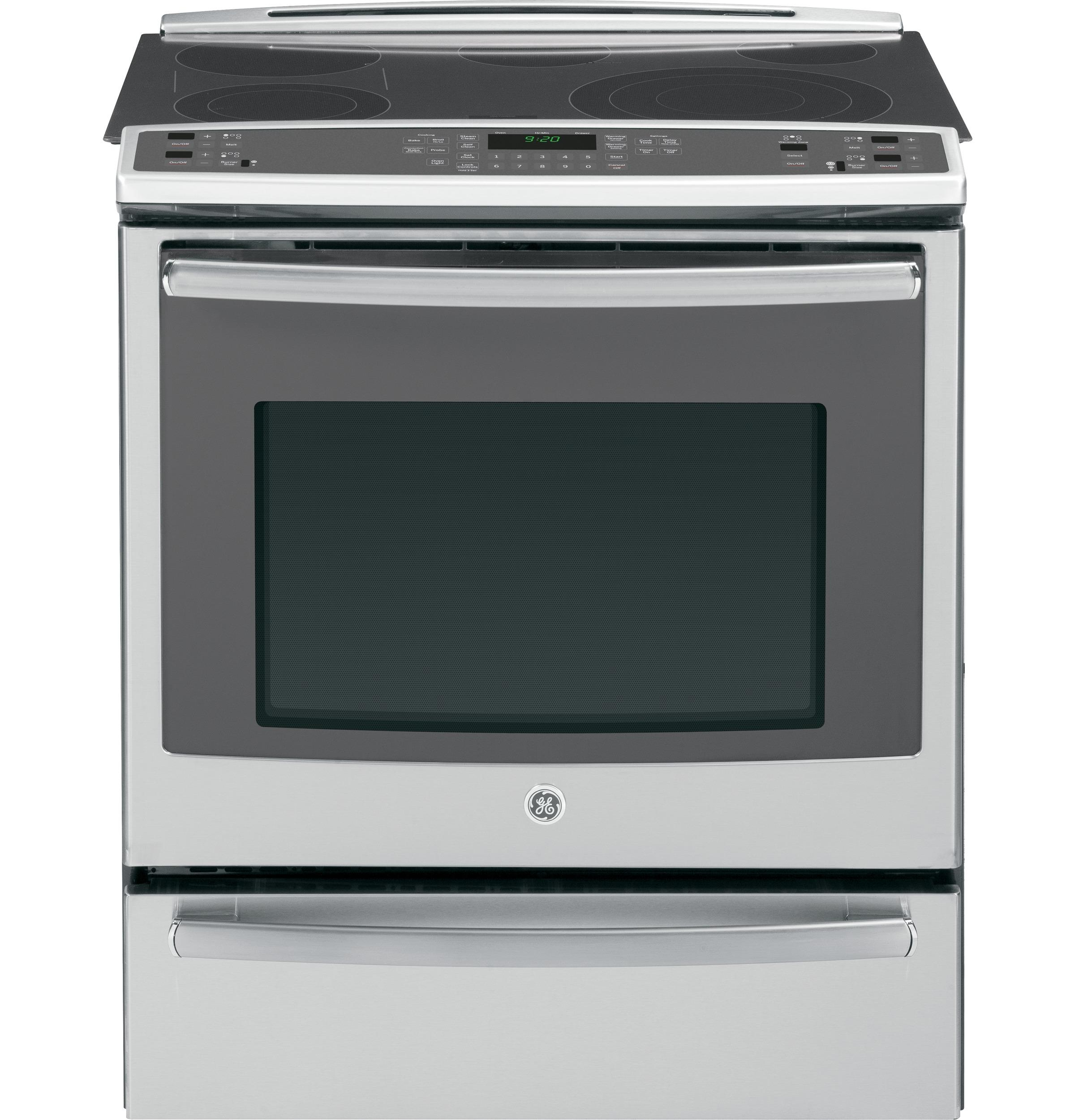 """GE Appliances Electric Range 30"""" Slide-In Electric Convection Range - Item Number: PS920SFSS"""