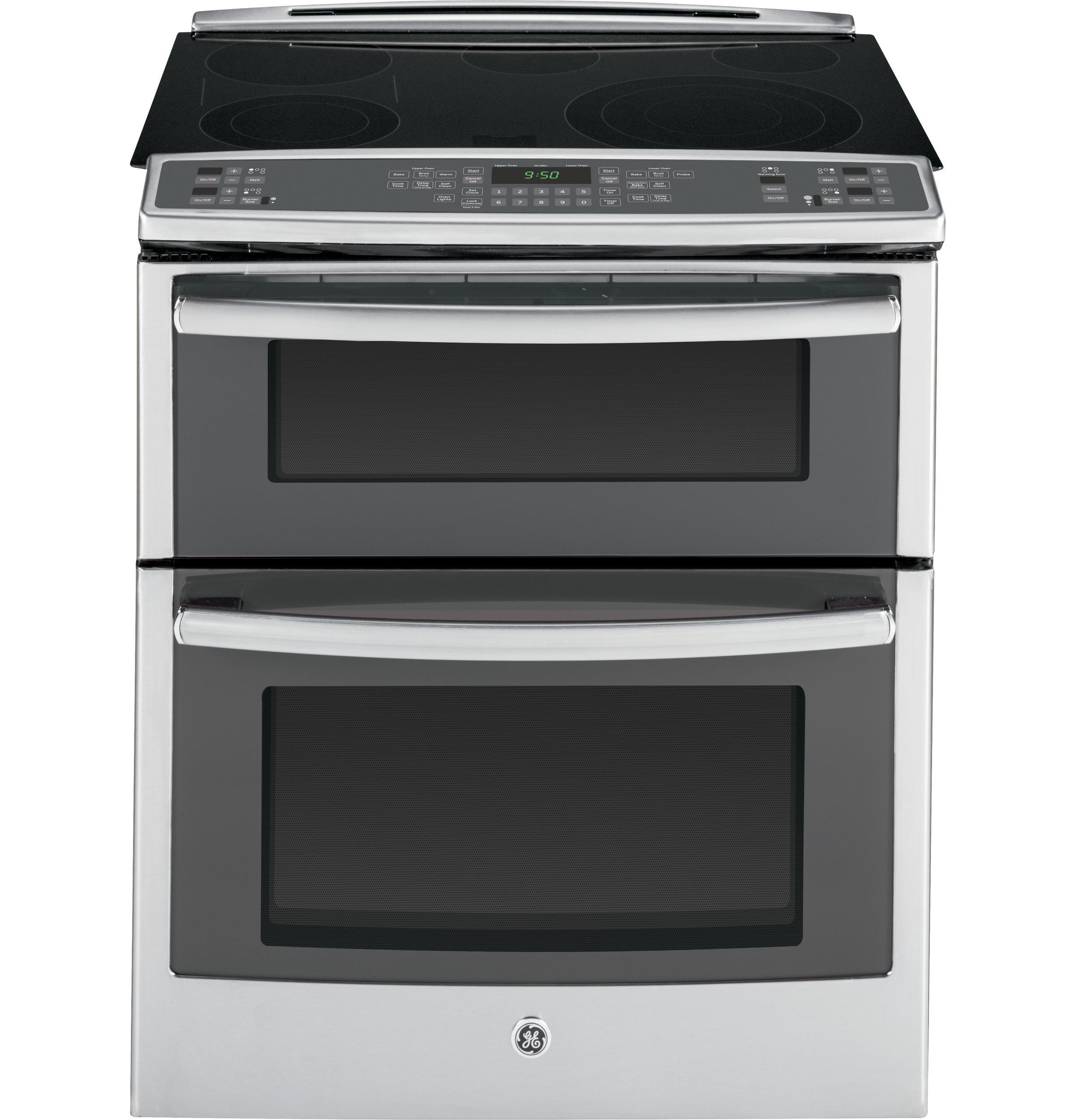 "GE Appliances Electric Range 30"" Slide-In Double Range - Item Number: PS950SFSS"