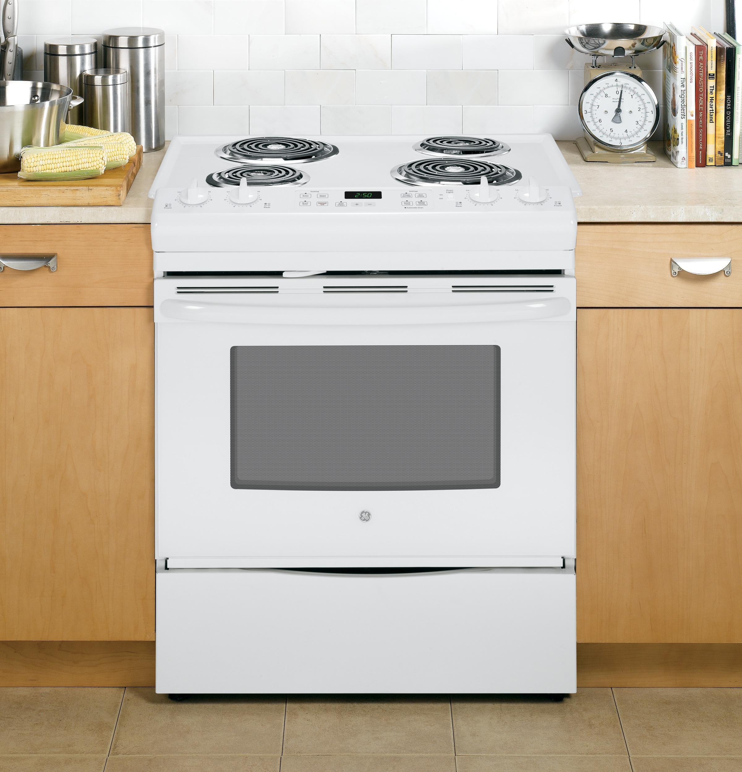 "GE Appliances Electric Ranges - 2014 30"" Slide-In Electric Range - Item Number: JS250DFWW"