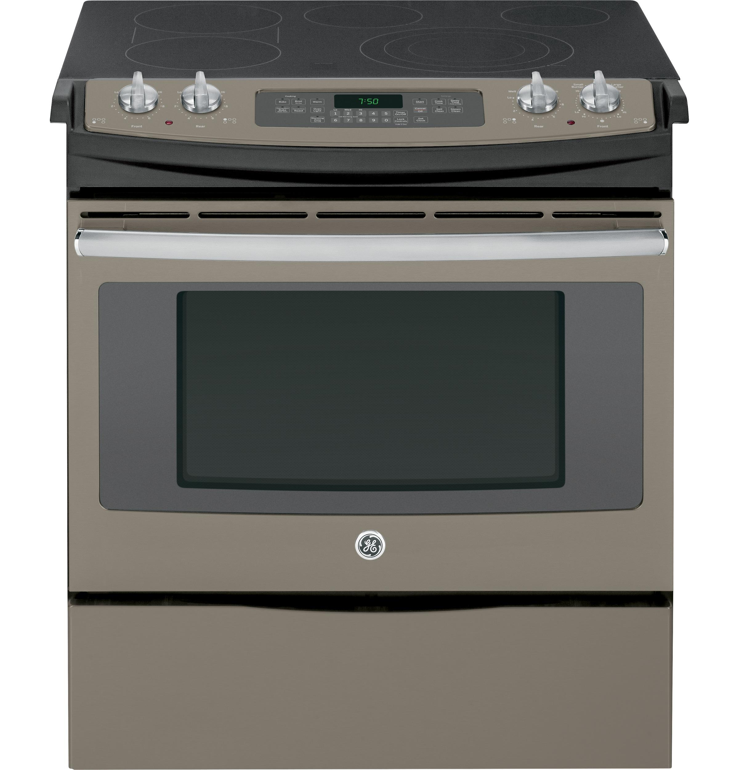 "GE Appliances Electric Ranges - 2014 2 30"" Slide-In Electric Convection Range - Item Number: JS750EFES"