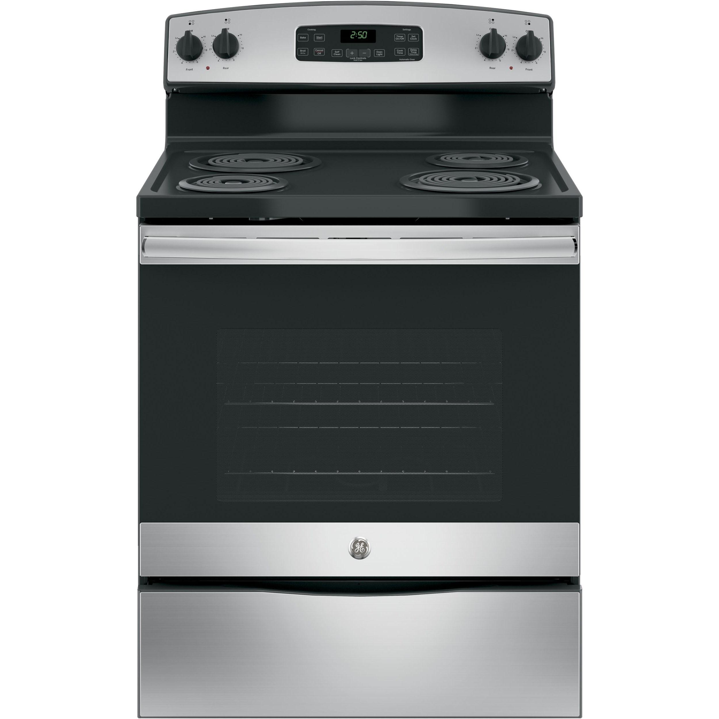 "GE Appliances GE Electric Ranges GE® 30"" Free-Standing Electric Range - Item Number: JB250RKSS"