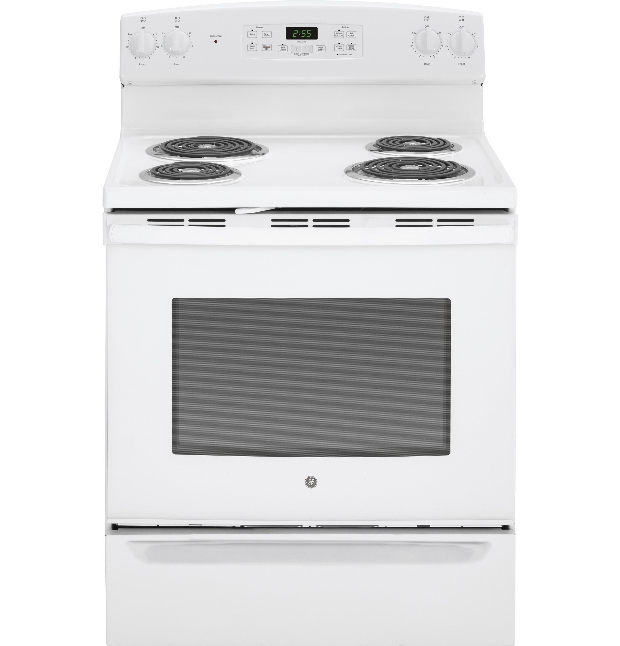 "GE Appliances GE Electric Ranges 30"" Free-Standing Electric Range - Item Number: JB255DJWW"