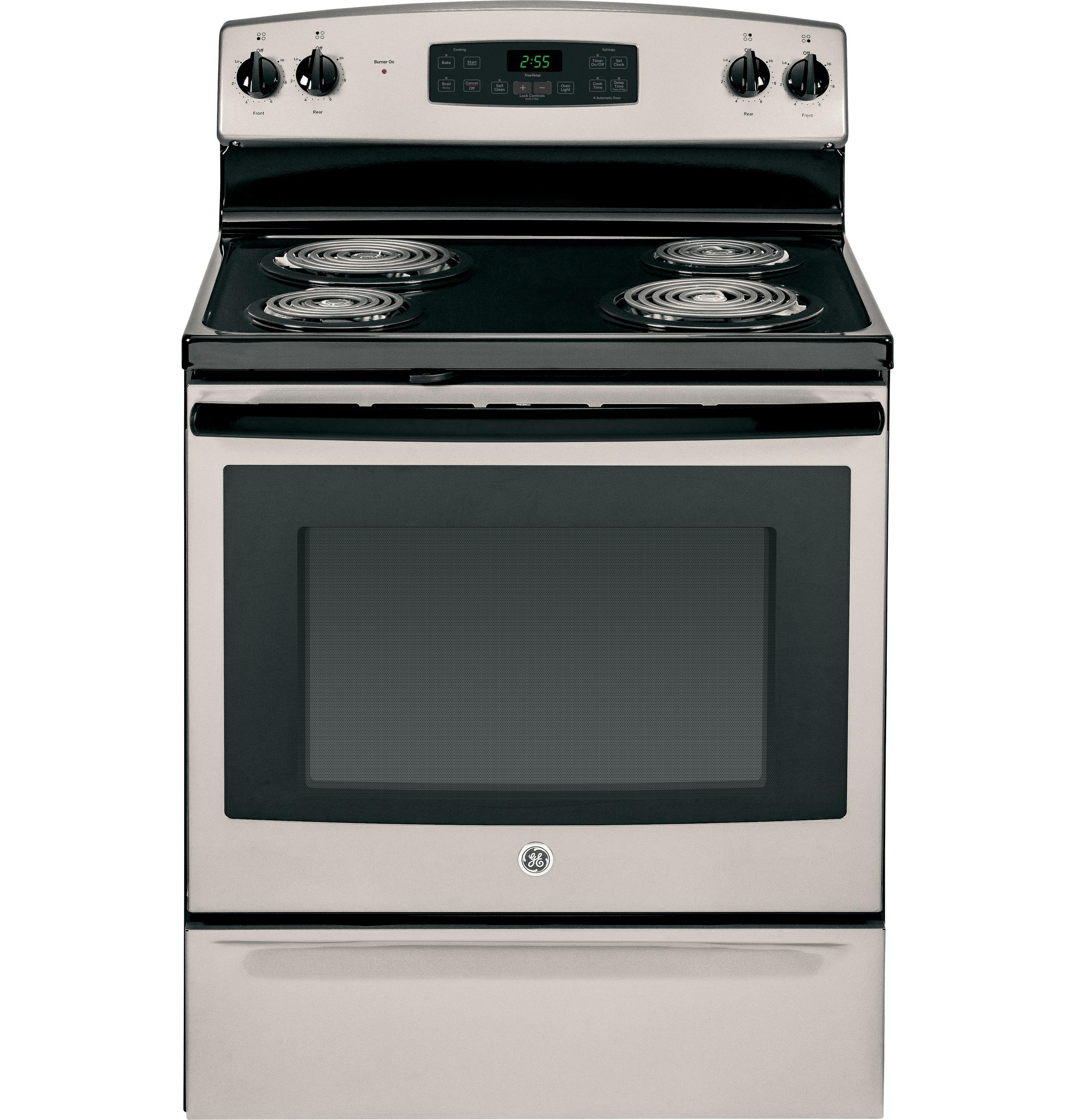 "GE Appliances GE Electric Ranges 30"" Free-Standing Electric Range - Item Number: JB255GJSA"