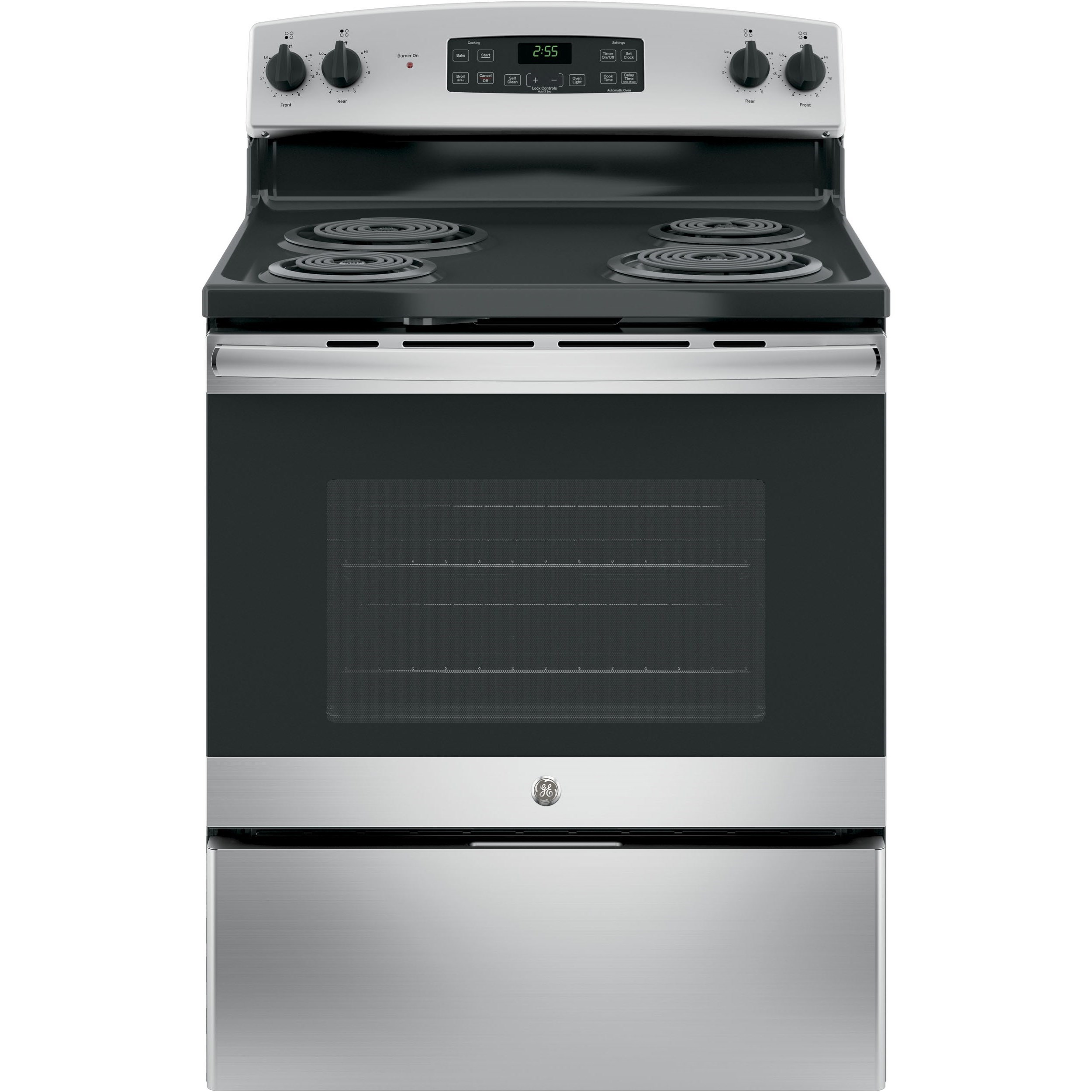 "GE Appliances GE Electric Ranges GE® 30"" Free-Standing Electric Range - Item Number: JB255RKSS"