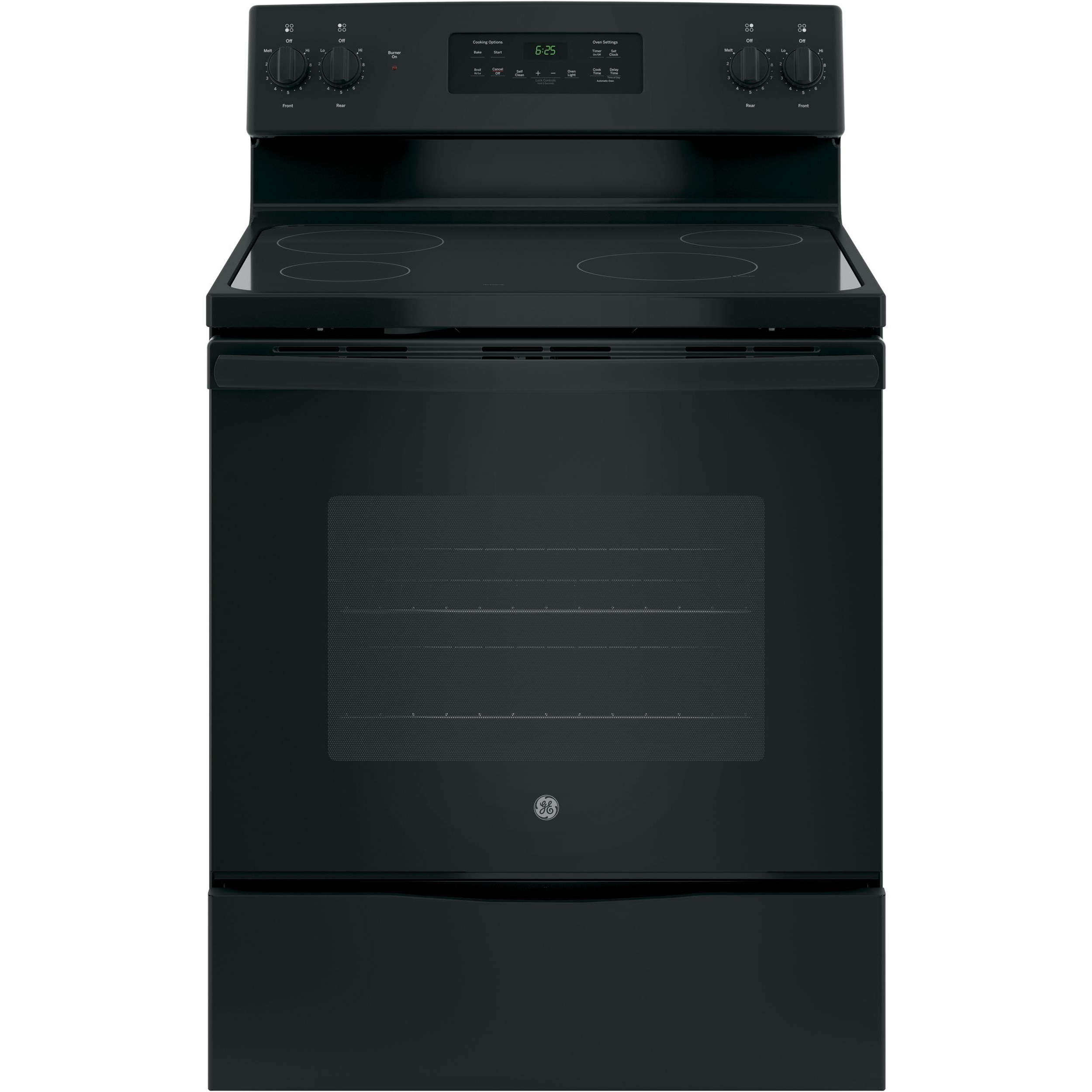 "GE Appliances GE Electric Ranges GE® 30"" Free-Standing Electric Range - Item Number: JB625DKBB"