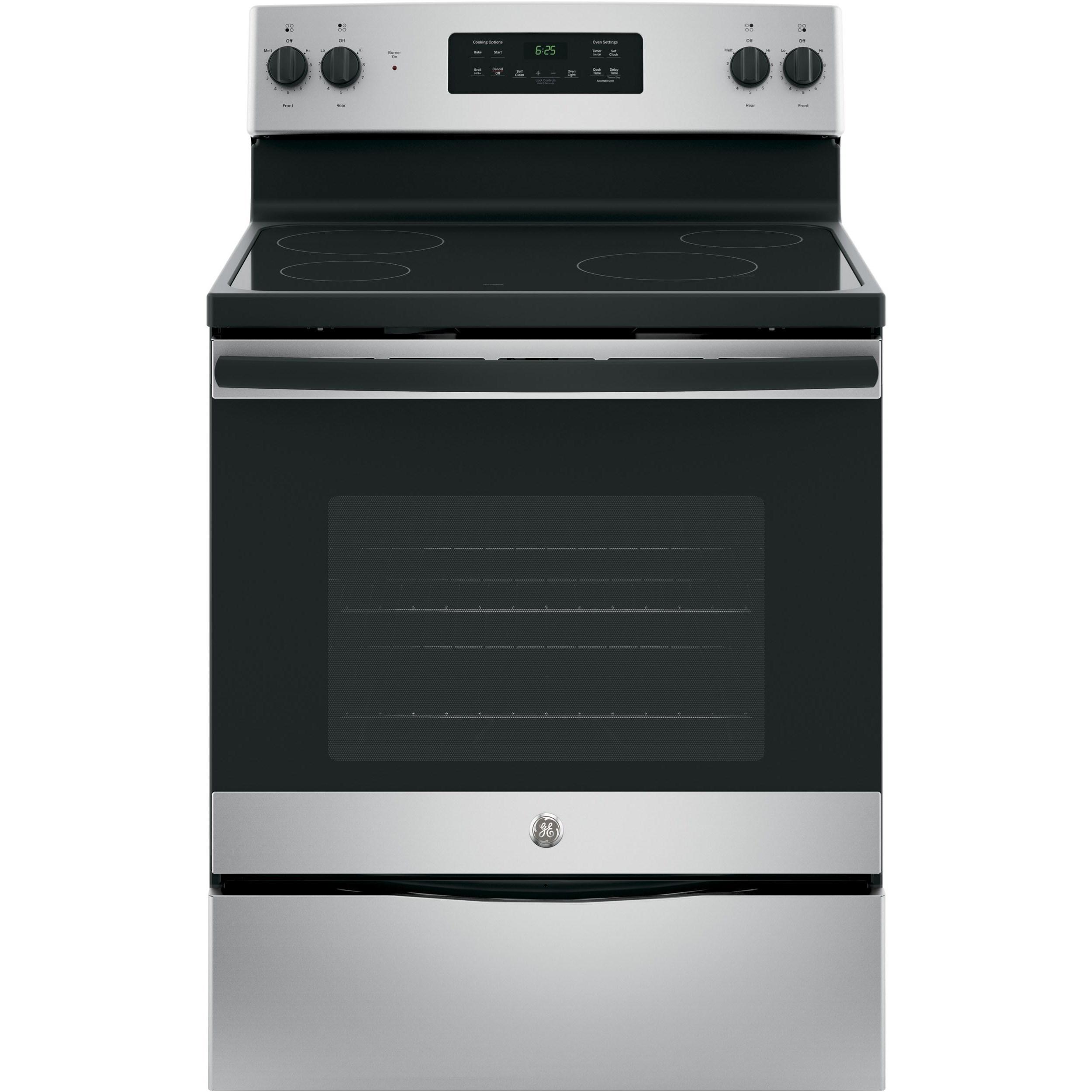 "GE Appliances GE Electric Ranges GE® 30"" Free-Standing Electric Range - Item Number: JB625GKSA"