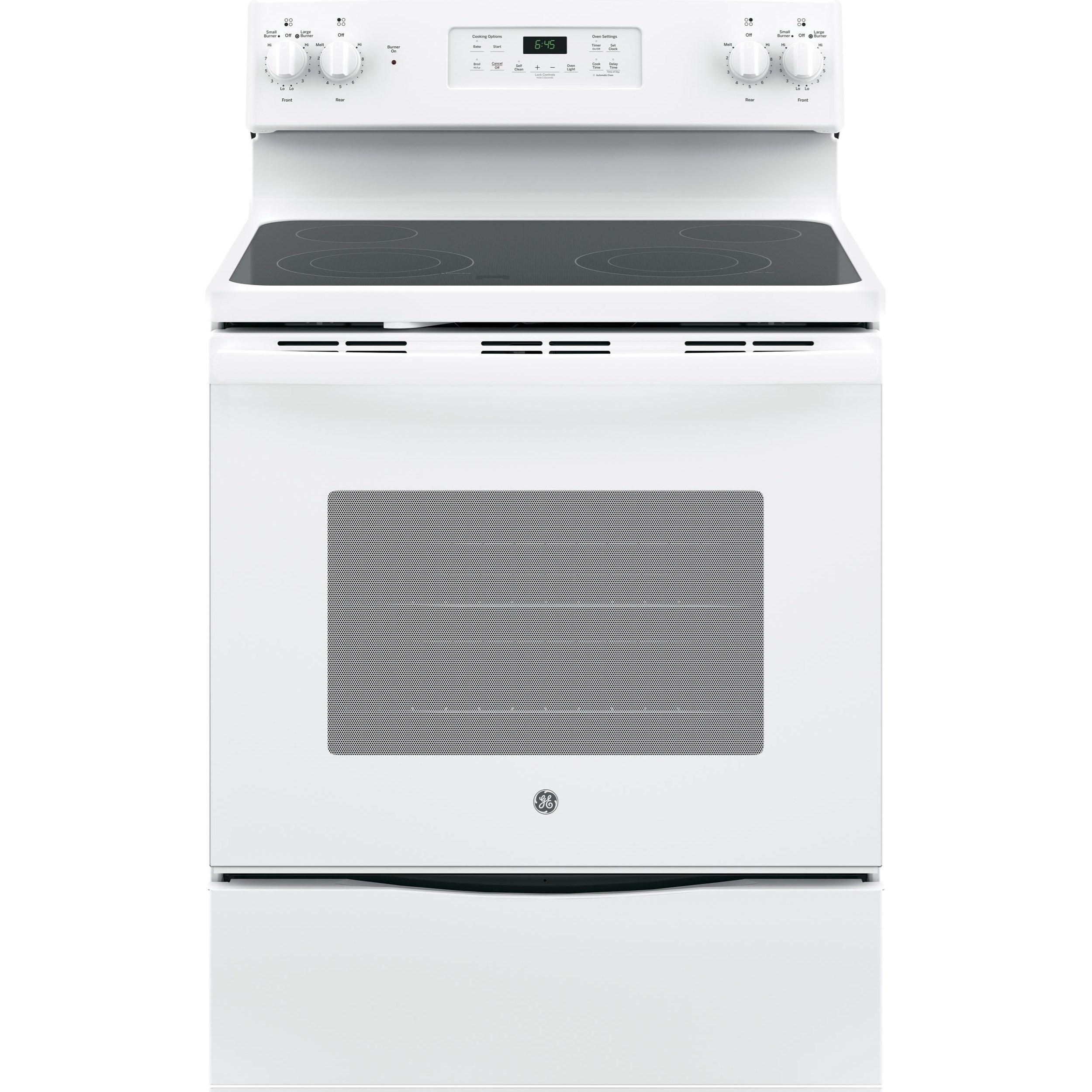 "GE Appliances GE Electric Ranges 30"" Free-Standing Electric Range - Item Number: JB645DKWW"