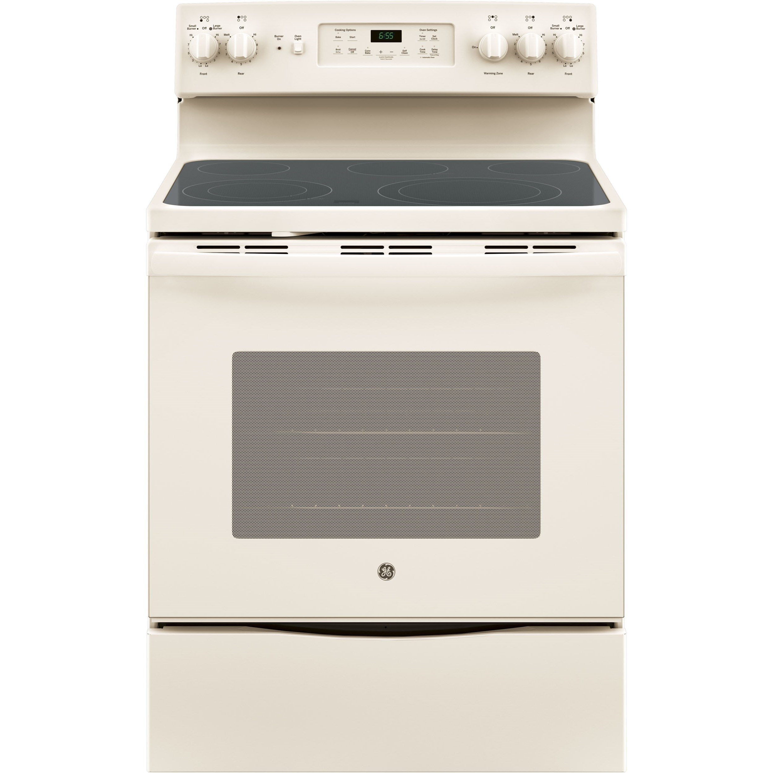 "GE Appliances GE Electric Ranges 30"" Free-Standing Convection Electric Range - Item Number: JB655DKCC"