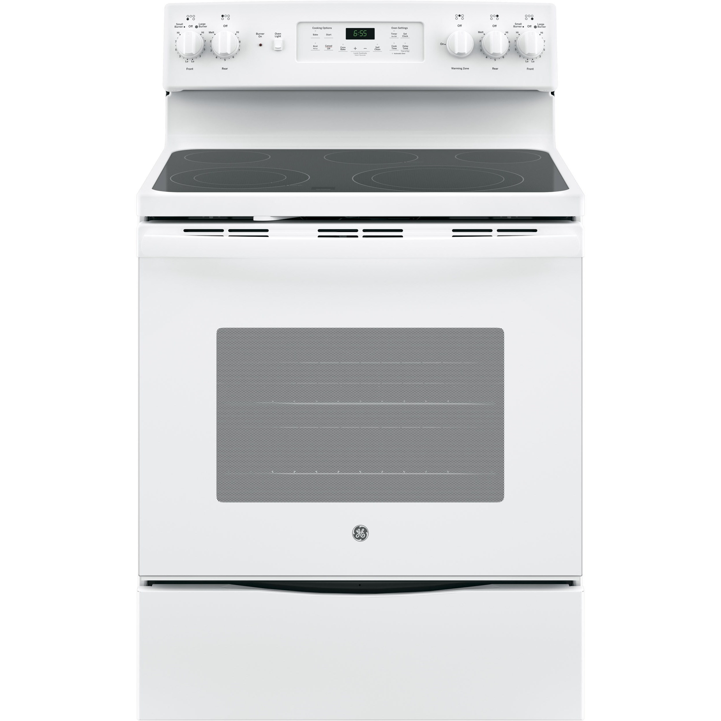 "GE Appliances GE Electric Ranges 30"" Free-Standing Convection Electric Range - Item Number: JB655DKWW"